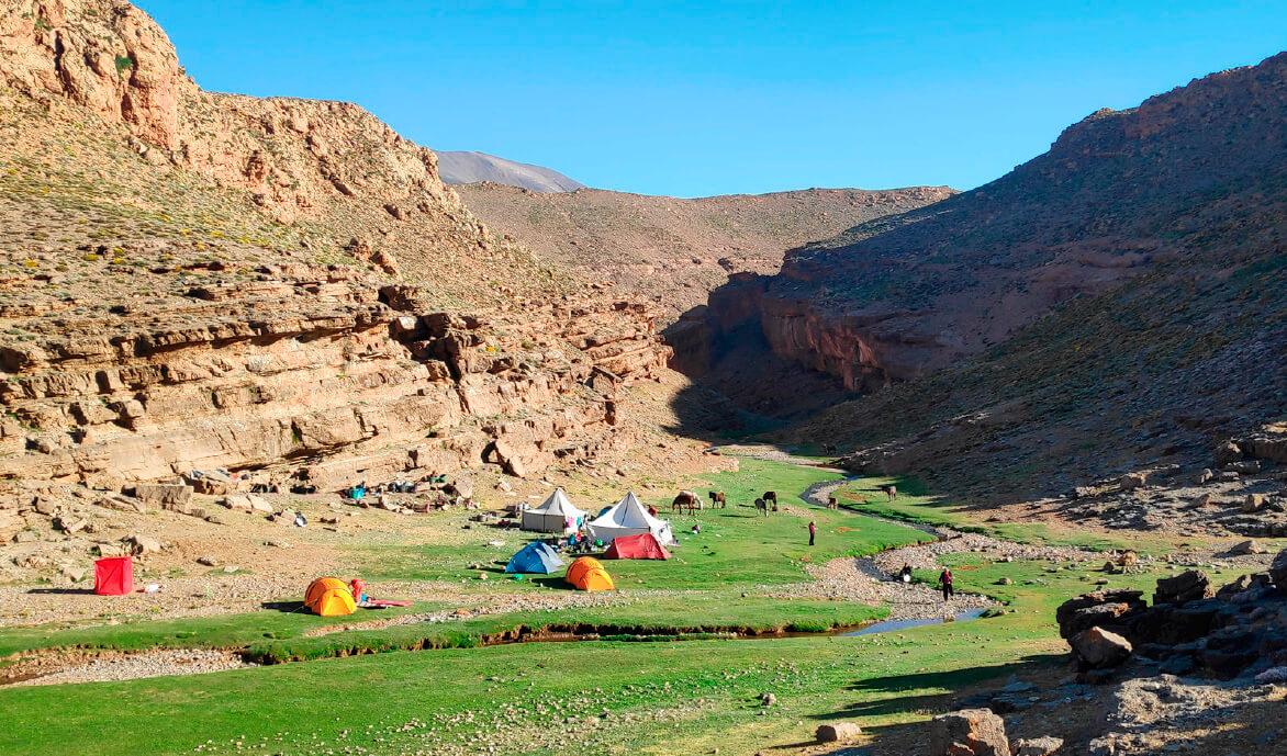 acampada marruecos