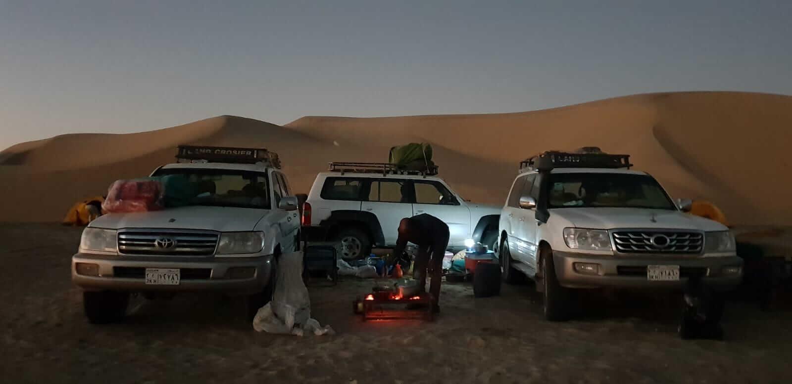 acampada en Sudán
