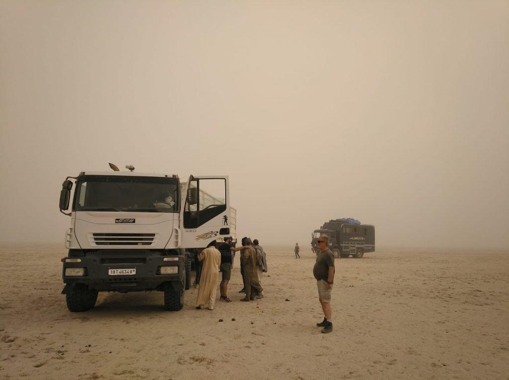 camión averiado desierto chad