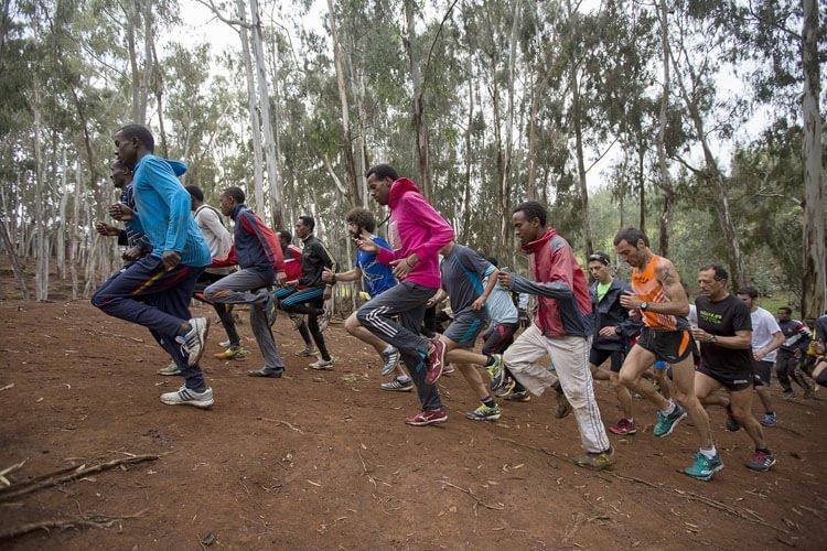 corredores en Bekoji Etiopia