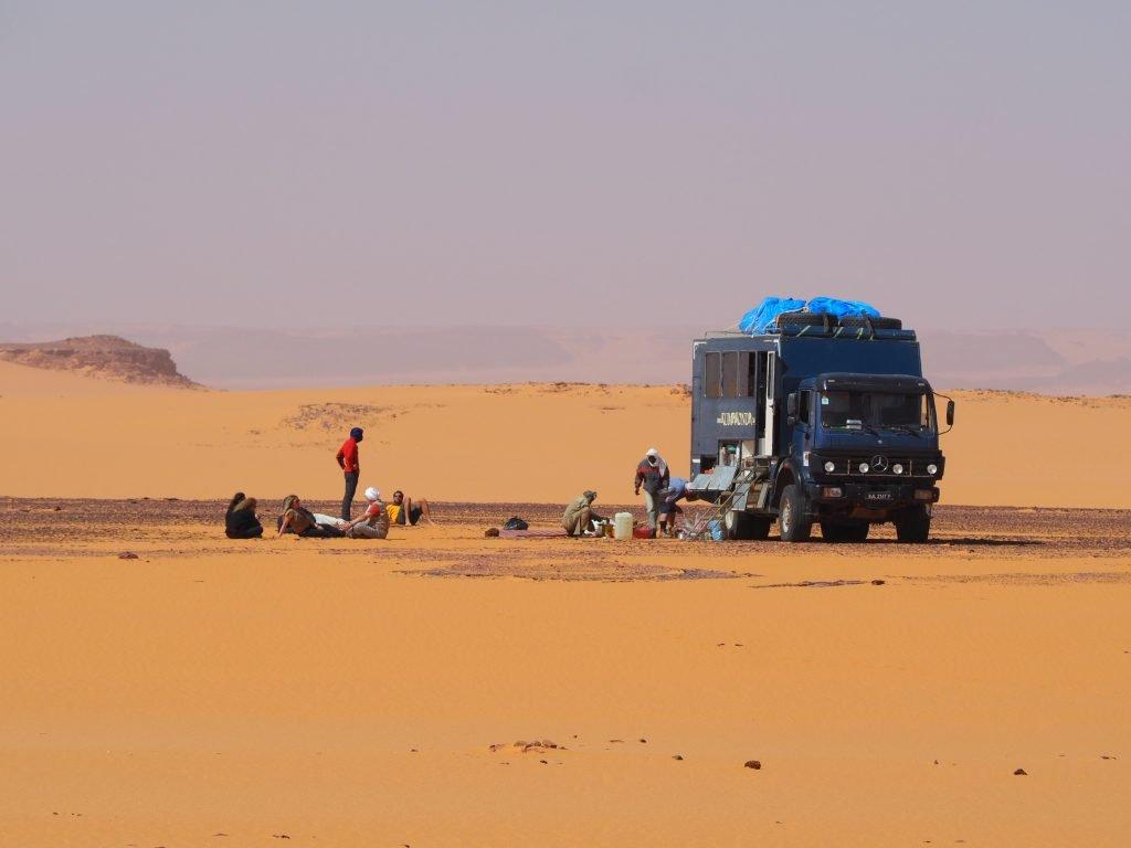 Desierto en camión Chad