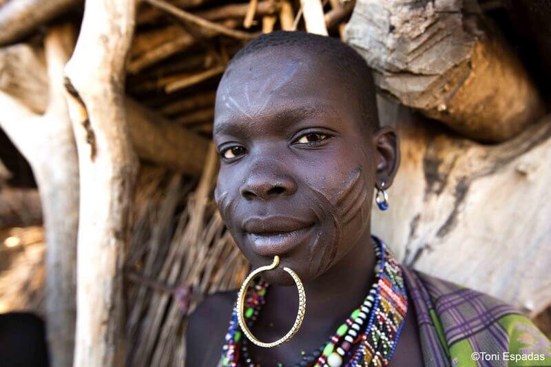 escarificaciones faciales etnia Toposa Sudán del Sur