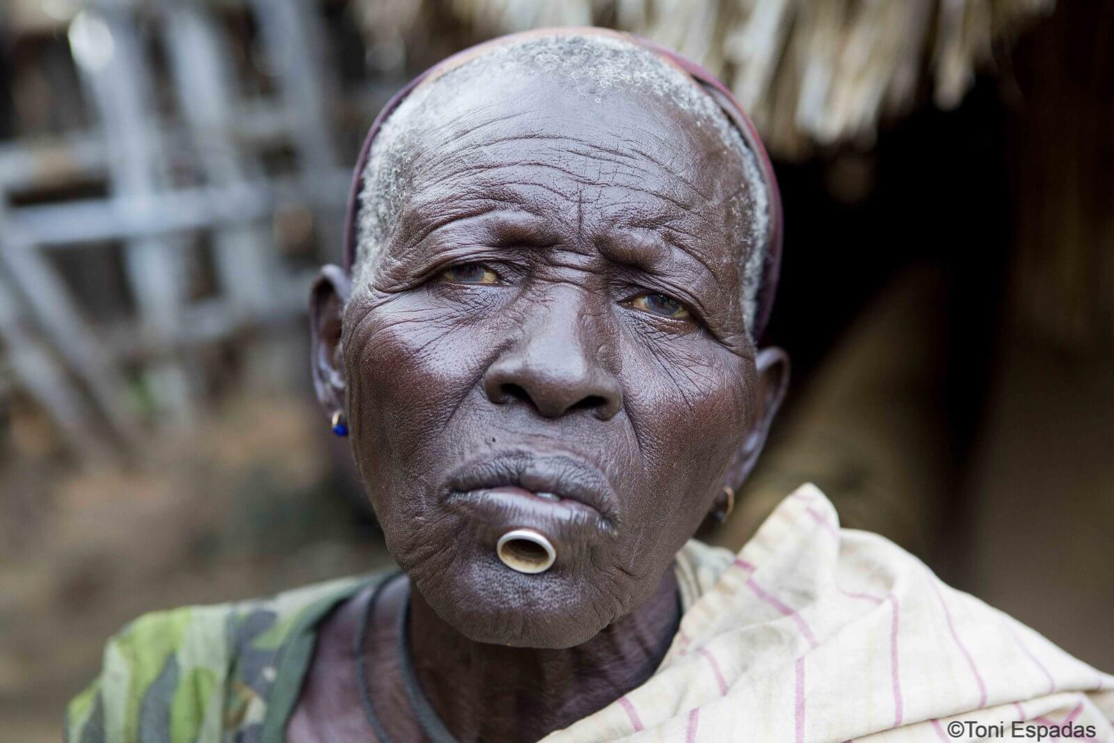 hombre lopit Sudán del Sur