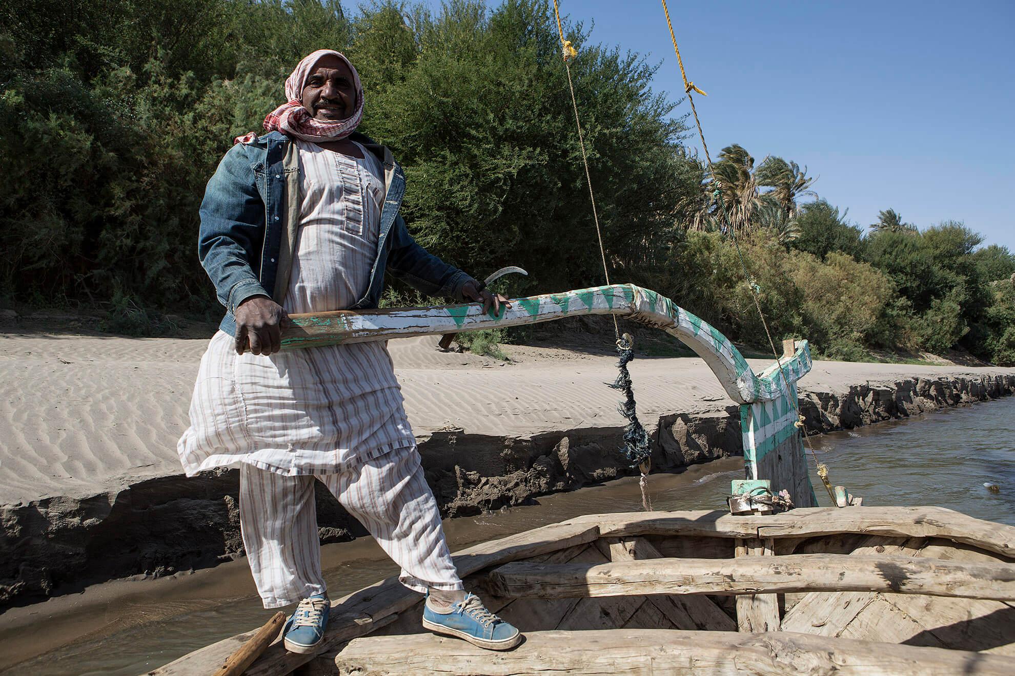 faluca nubio nilo sudán