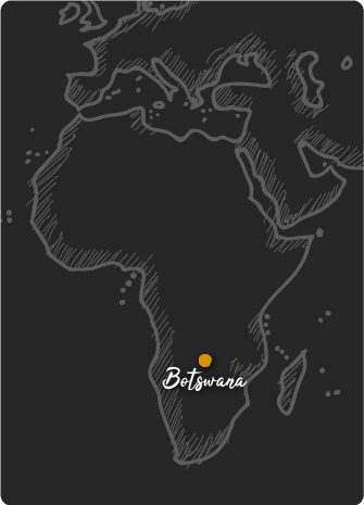Mapa de Botswana Rift Valley