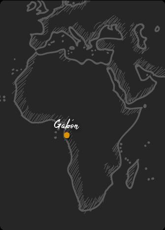 Mapa de Gabón Rift Valley