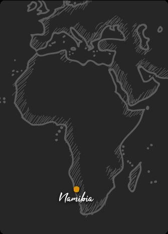 Mapa de Namibia Rift Valley