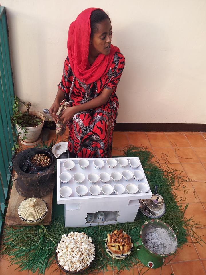 preparación del café etíope