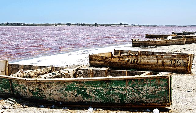 senegal lago rosa lago retba