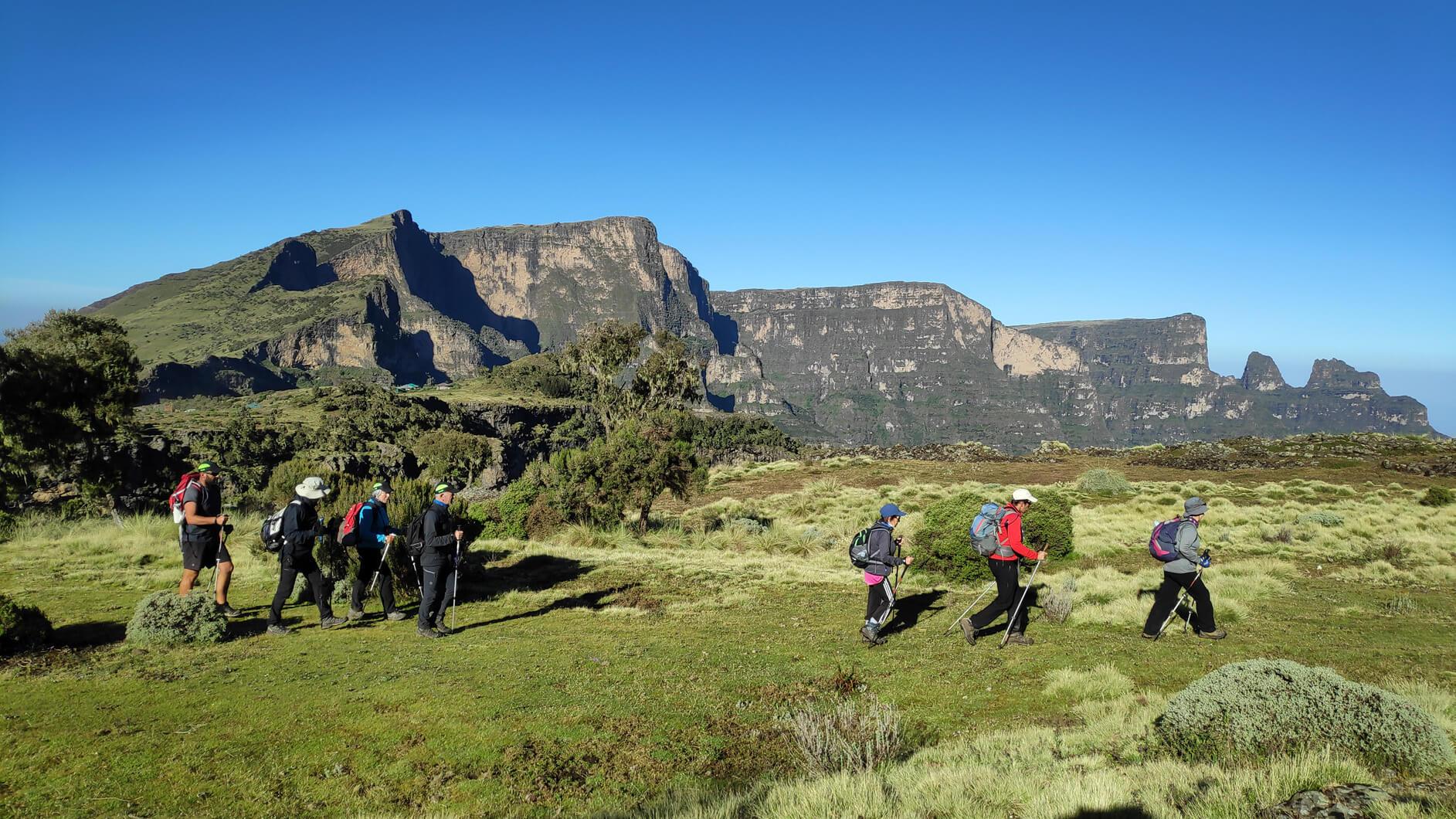 viaje de trekking
