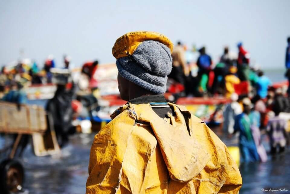 viaje Senegal mbour llegada pescadores